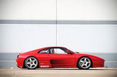 Ferrari 348 Car Side View, Ferrari 348, Pretty Cars, Italian Beauty, Sweet Cars, 90s Grunge, Red Heads, Dream Garage, Automotive Design