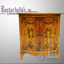 Vintage Maple Burl Cabinet at Easterbelle's Emporium on Ruby Lane