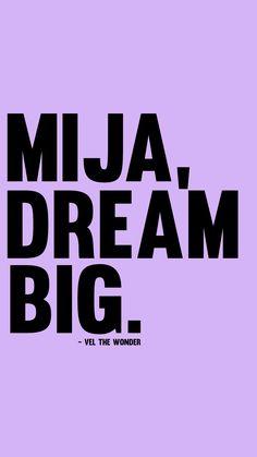 "Lyrics via Vel the Wonder's song titled ""MIJA"". Positive Vibes, Positive Quotes, Motivational Quotes, Mood Quotes, Life Quotes, Spirit Quotes, Latinas Quotes, Spanish Quotes, Spanish Inspirational Quotes"
