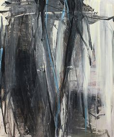 "Tom Lieber ""Black Veil"" 2014 Oil on Canvas 72 x 60 Inches"