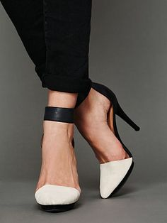 Solitaire Heel by Jeffrey Campbell from #FreePeople     These are shoes that let others know you mean business.