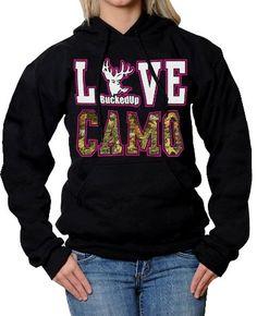BuckedUp Love Camo Hoodie | Country Bling