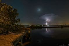 Lightning storm 50 miles away!  Stuart,  Florida.