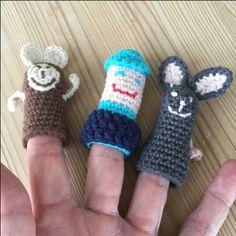 hæklede fingerdukker, crochet fingerdolls