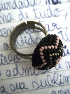 La Madôme Ring  tissue beads by RosaAvela on Etsy, €10.00