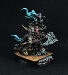 Warhammer 40k | Chaos Space Marines | KLord of contagion by Andre Dittrich http://wellofeternitypl.blogspot.com #warhammer #40k #40000 #wh40k #wh40000 #warhammer40k #gw #gamesworkshop #wellofeternity #miniatures #wargaming #hobby #tabletop