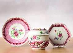 RARITY! Lot 18th C Qianlong Chinese Teapot Famille Rose Pattipan Ornament. OSELLAME'S COLLECTION.