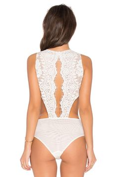 THE JETSET DIARIES x Revolve Secret Lace Bodysuit in Ivory | REVOLVE