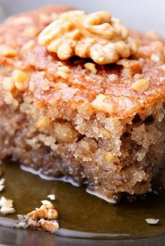 Greek Honey Cake - Very moist cake, often found at Greek food festivals!