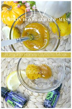 DIY Pumpkin Glycolic Honey Mask-Professional Spa style treatment for every skin type that will smooth, tighten and rejuvenate your skin!