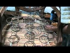 Great Upholstery Tutorial How To Tie Springs And Fix Antique Furniture #ChairUpholstery