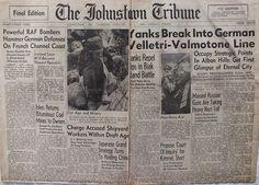 The Johnstown Tribune - World War II: June 1, 1944: Yanks Break Into German Velletri-Val...