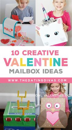 10 Creative Valentine Mailbox Ideas for Kids- super cute but easy too! Fun Valentines Day Ideas, Kinder Valentines, Valentine Day Boxes, Valentine Day Crafts, Printable Valentine, Homemade Valentines, Valentine Wreath, Kids Mailbox, Diy Valentine's Mailbox