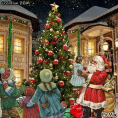 Father Christmas, Christmas And New Year, Christmas Time, Merry Christmas, Holiday, Christmas Colors, Christmas Lights, Christmas Decorations, Xmas Gif