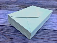 50 A7 Envelope Sage Light Green 5x7 Paper Source by SEEDInvites