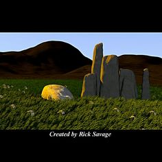 Sarsen Stone Scene -  Created by Rick Savage - Blender 2.70