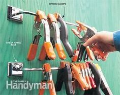 Find the right clamp when you need it! Here's a great collection of tips for storing all the different kinds of clamps you need for all types of projects.