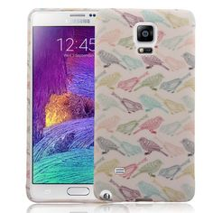 Samsung Galaxy Note 4 Case Flock of Colors TPU Silicone Skin Phone Case Cover   www.nucecases.com   #samsung #nucecases