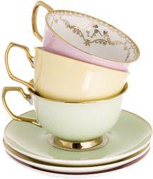Vintage Limoges Tea Cups and Saucers