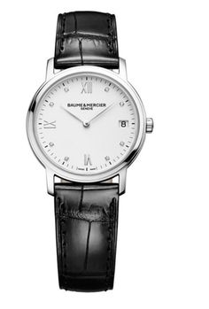 Model:Classima Lady Quartz Ref. M0A10146 Movement:Quartz Gender:Female Complications:Date, Minute Hand, Hour Hand Shape:Round Case Material:Stainless Steel Dail colour:White with Diamond Hourmarkers Size:33 mm Material:Croco-leather Price:€ 1 550 @colmanwatches