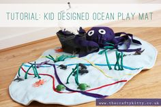 play rugs and play mats | The Crafty Kitty | Kid designed ocean play mat