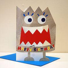 Little Monster Madox Birthday Card