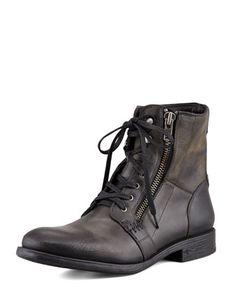Bleeker Side-Zip Boot, Black by John Varvatos Star USA at Neiman Marcus.