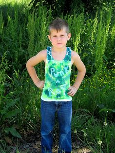 Noah modeling a muscle tee for Punk Boy Clothing