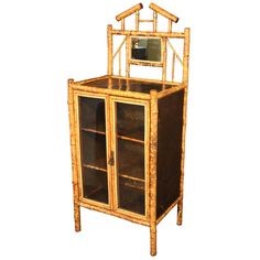 1stdibs | English Bamboo Cabinet with Two Doors