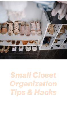 Apartment Closet Organization, Small Room Organization, Organization Hacks, Clothing Closet Organization, Organizing Small Closets, Small Closet Storage, Closet Bedroom, Small Room Bedroom, Bedroom Ideas