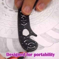 Multi-function Drawing Ruler Designed for portability, this is intended to be a portable stationery item that fits in your notep Dot Art Painting, Mandala Painting, Mandala Drawing, Mandala Art, Art Art, Wolves Tattoo, Animals Tattoo, Paper Art, Paper Crafts