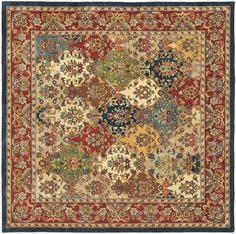 Dress up your floors in statement-making style with this hand-tufted 100% pure wool rug, crafted in India. Its floral details add botanical beauty to your decor while its multicolor palette is perfect paired against a hardwood floor for a contrasting look. Play up this piece's traditional inspiration by adding it to a living room comprised of damask-pattern slipper chairs and a wood-frame sofa for a complementing look, then anchor the seating group with a pedestal-base coffee table for ti...