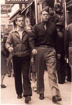 The Sledge brothers, Eugene Sledge (left) and Lt. E.S. Sledge in Mobile, Alabama.
