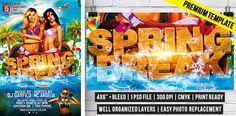 Spring Break Party – Premium Flyer Template #exclusiveflyer #SpringBreak #psd #flyertemplate http://www.exclusiveflyer.com/premium-templates/spring-break-party-premium-flyer-template/