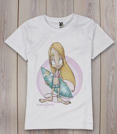 camiseta surfera manudejavea.com