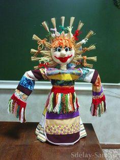 Кукла Масленица   Сделай Сам www.sdelay.tv