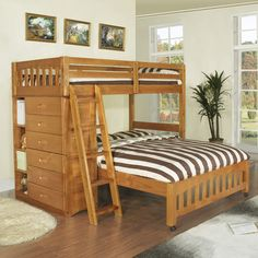 Discovery World Furniture Weston Twin Over Full L-Shaped Storage Bunk Bed & Reviews | Wayfair