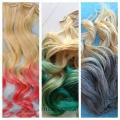 Ombre Clip in Hair extensions on Etsy!