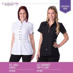 Voyez 2 nouveaux uniformes! Comment les trouvez-vous? http://www.carolyndesign.com/1-hauts-uniformes-femmes.html
