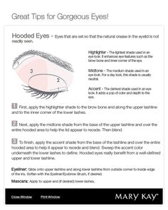 How to apply eyeshadow to hooded eyes