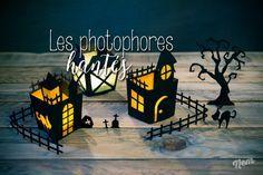 Tu te souviens de mes lanternes pour Halloween 2014 ? Je te propose de compléter la collection avec des lanternes aux allures de maisons hantées !