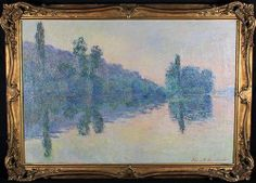 """Adjugé 40 000 euros par Cheroyan à Rouen le 30 mars 2014 -  Blanche HOSCHEDE MONET (1865-1947) """"Bord de seine"""" huile sur toile signée en bas à droite 50 x 73 cm"""