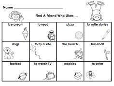 find a friend Printable, use with a Kagan Structure