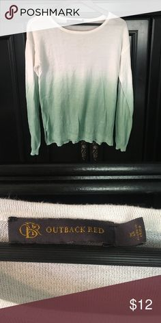 The Limited • Outback Red Collection Ombré Sweater The Limited • Outback Red Collection Ombré Sweater.  Light weight; Great for this upcoming Fall/Winter Season.  Excellent Condition The Limited Sweaters Crew & Scoop Necks