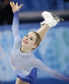 Best ice skating outfit ever. Cinderella-Sleeping Beauty-Elsa all wrapped into one. #classynottrashy.  gracie gold Sochi 2014