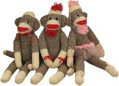 One year grandma made one of these for each of us.  I wish I still had that sock monkey.