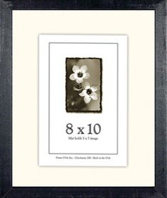 8x10 Wood Picture Frame - Picture Frame has 9 Colors to Choose from!