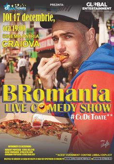 BRomania - Live Comedy Show Live Comedy, Comedy Show, Stand Up, Cinema, Entertainment, Movies, Movie Posters, Home, Bebe