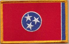 Delaware US State Flag Embroidered Patch T8