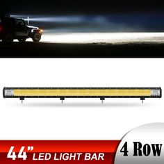 "44"" Inch LED Light Bar Triple Row Flood Spot Combo Beam Work Driving Lamp 42""  | eBay"